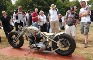 Motorcycles on display at the Cartier Style et Luxe Concours d'Elegance