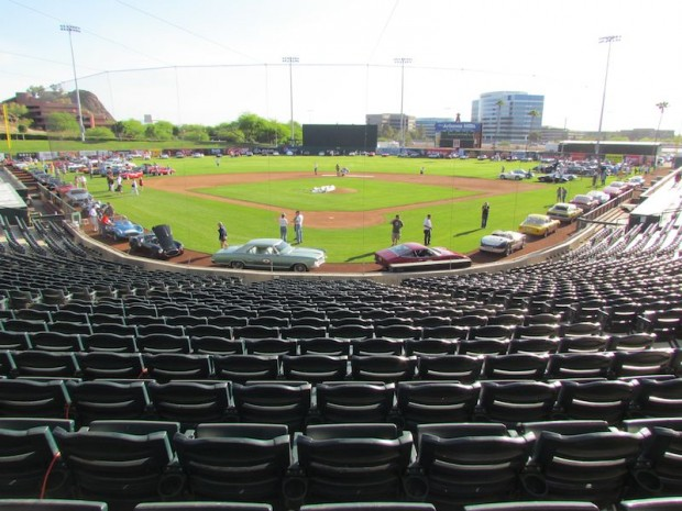The Copperstate 1000 annually launches with the Field of Dreams car show in and around Tempe Diablo Stadium.