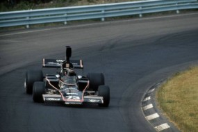 Tony Adamowicz pilots the Woods Racing Lola T330 F5000 car circa 1973