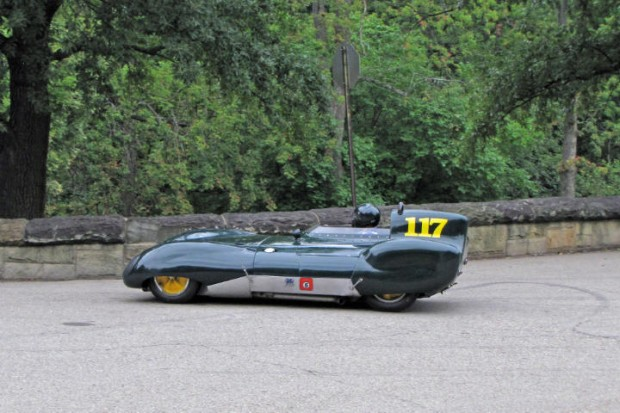 The 1958 Lotus XI of Dick Fryberer won Group 3
