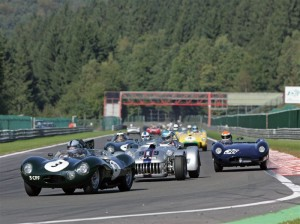 Jaguar D-Type leads the field at Spa