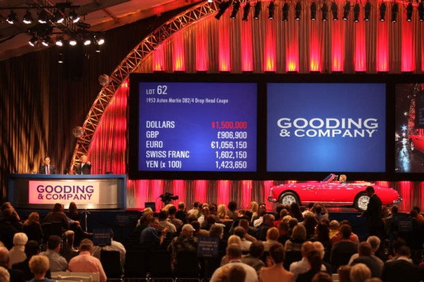<strong>1953 Aston Martin DB 2/4 Drop Head Coupe Sold for $1,650,000 versus unavailable estimate.</strong> Most Expensive Car In The World Circa 1953; two-time Pebble Beach Concours award winner.