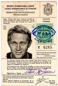 Steve McQueen's Driver License