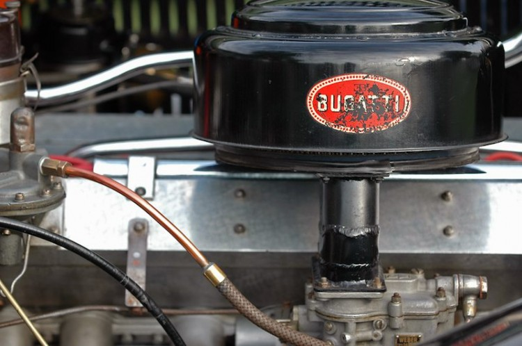 Bugatti engine detail at Meadow Brook Concours