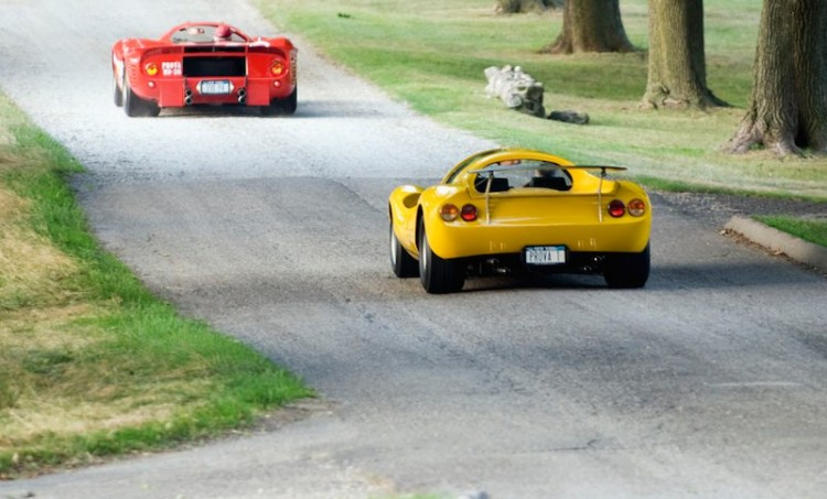 Dino 206 Competizione and Ferrari P3/4 (Chassis 0846) at Meadow Brook Concours