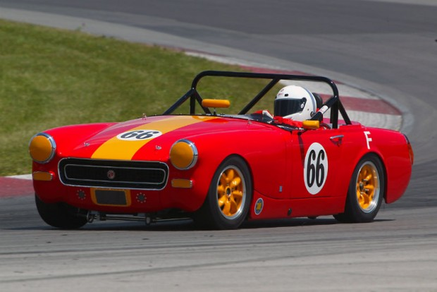 John McCue in his MG Midget at the Mid-Ohio Vintage Grand Prix