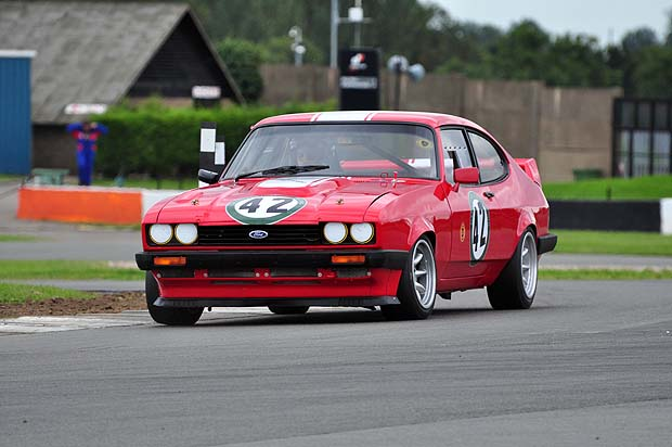 Mike Wrigley, winner of the Touring '70s class in his Ford Capri