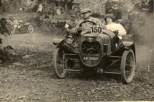 Early JAP-engined Morgan Sporting at the Lands Ends Trial in 1923. Pictured here are company founder HFS Morgan and his wife, Ruth.  Photo courtesy of Morgan Motor Company Archives