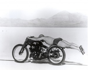 Vincent Black Shadow Rollie Free Bathing Suit Bike