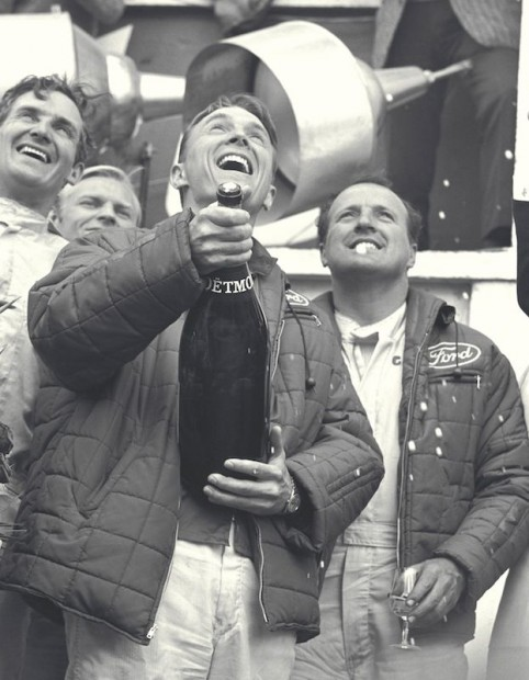 1967 24 Hours of Le Mans: Dan Gurney and AJ Foyt on victory rostrum