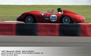 1957 Maserati 200Si Serial #2412 To Be Featured at 2009 Palos Verdes Concours