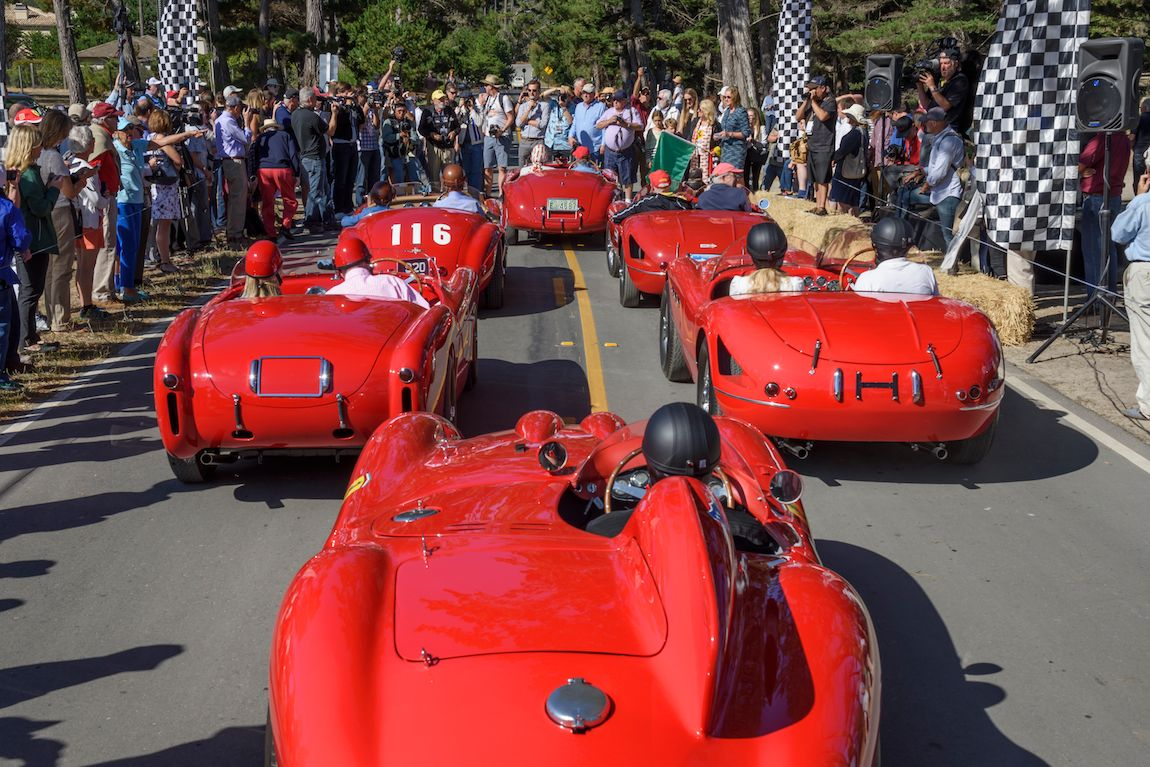 Ferraris in the Pebble Beach Road Races