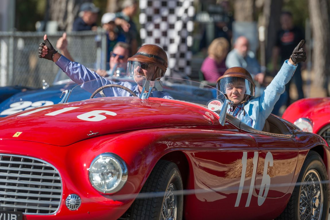 Thumbs up from the McCaws at Ferraris in the Pebble Beach Road Races
