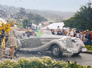 The 2009 Pebble Beach Concours d'Elegance Best of Show winner: a 1937 Horch 853 Voll & Ruhrbeck Sport Cabriolet, owned by Robert M. Lee of Sparks, Nevada.  Copyright © 2009 by Ron Kimball Studios