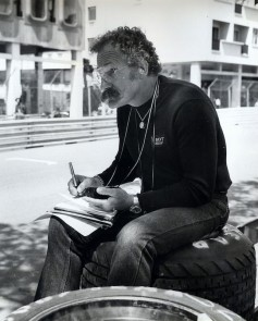 Chuck Jones working in the Ensign F1 pits at Monaco in 1977