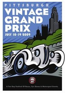 2009 Pittsburgh Vintage Grand Prix Poster by Burton Morris