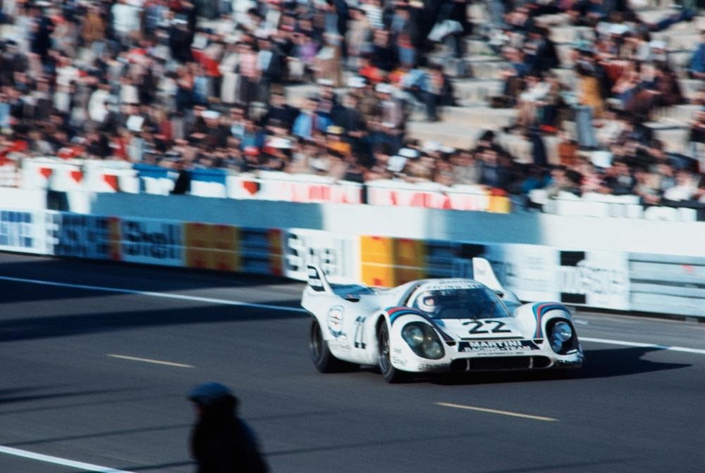 1971 24 Hours of Le Mans winner Martini Porsche 917 driven by Helmut Marko and Gijs van Lennep