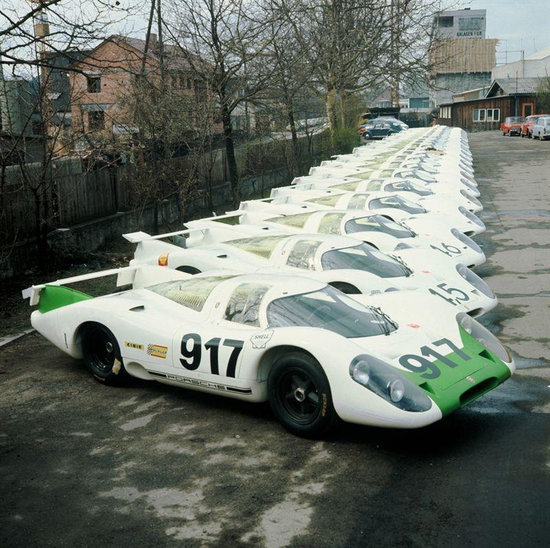 Brand new Porsche 917 at Zuffenhausen