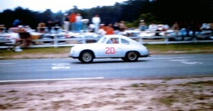 Roger Craig's 1956 Porsche Carrera racing at the Pebble Beach Road Races in 1956. It will compete at the 2009 Pebble Beach Concours d'Elegance after a 53 year absence.  Photo courtesy of Roger Craig. All rights reserved.