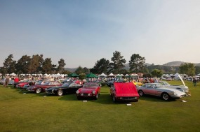 Ferraris lined up at Quail Gathering