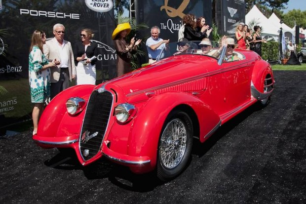 <strong>Rolex Circle of Champions Best of Show Award </strong> - 1937 Alfa Romeo 8C 2900 B owned by Bob Lee