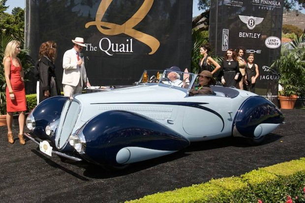 <strong>The Quail Lodge Award </strong> - 1937 Delahaye 135M owned by Peter Mullin