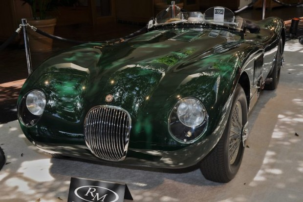 <strong>1952 Jaguar C-Type XKC-007 – Sold for $2,530,000 versus unavailable estimate. </strong>Driven to victory in 1952 by Phil Hill to claim the Jaguar C-Type's first North American racing victory; world record for C-Type sold at auction.