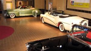 1948 Lincoln, 1953 Buick Skylark and 1955 Buick Roadmaster at Saratoga Auto Museum