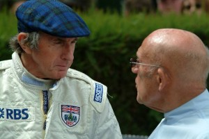 Jackie Stewart and Sir Stirling Moss