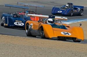 1970 McLaren M8C, 1968 McLeagle M6B, Lola T-163 and McLaren M6A