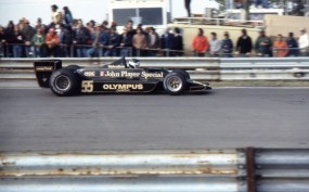 Lotus T79 piloted by Jean Pierre Jarier late in the 1978 season