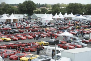 Shell Ferrari Historic Challenge Paddock