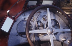 The cockpit of a 'real' pre-war Mille Miglia winner.