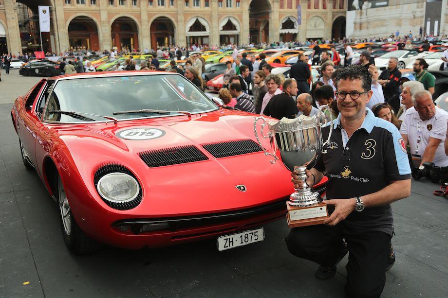 Miura P 400 S won the Lamborghini Concours d'Elegance