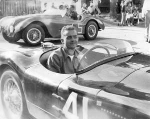 Jaguar XKC 007 with Phil Hill at Elkhart Lake in 1952 - Photo supplied by Nell Family