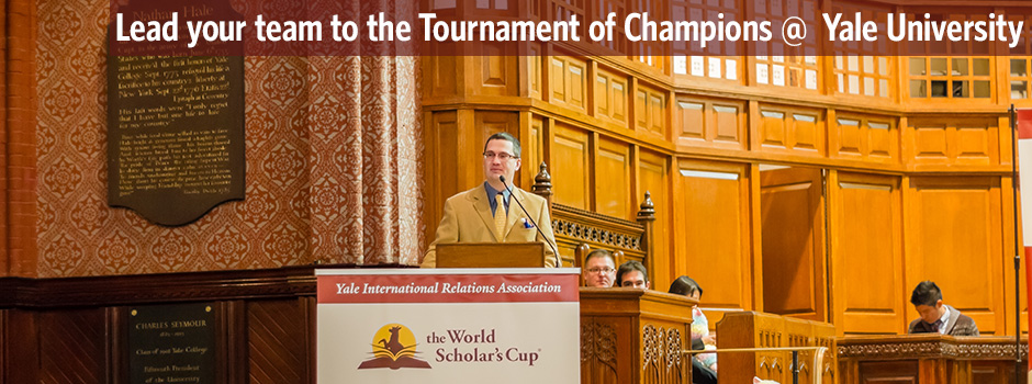 Lead your team to the Tournament of Champions at Yale University