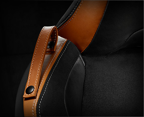 Black and Camel Leather Trimmed Heated Seats