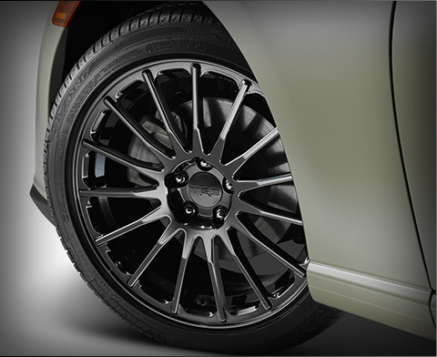 TRD Forged Alloy Wheels with Black Pearl PVD Finish