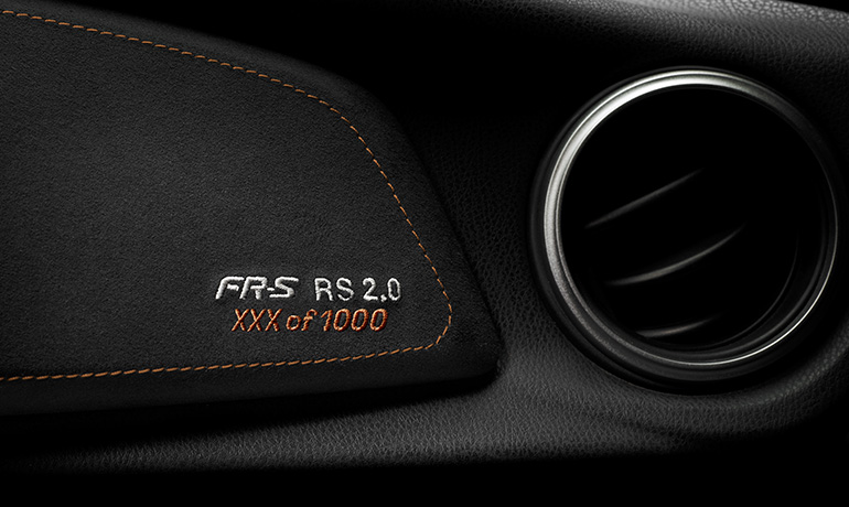 Scion FR-S RS 2.0 - Embroidered RS Number