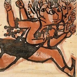 Foraging - Munakata Shiko, Japanese Mingei Artist