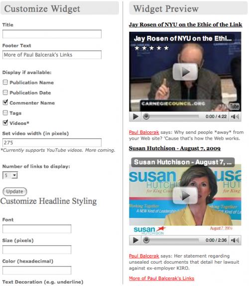 Publish2 Widget Video