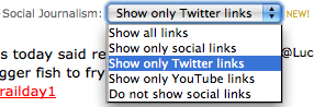 Social Journalism Filter