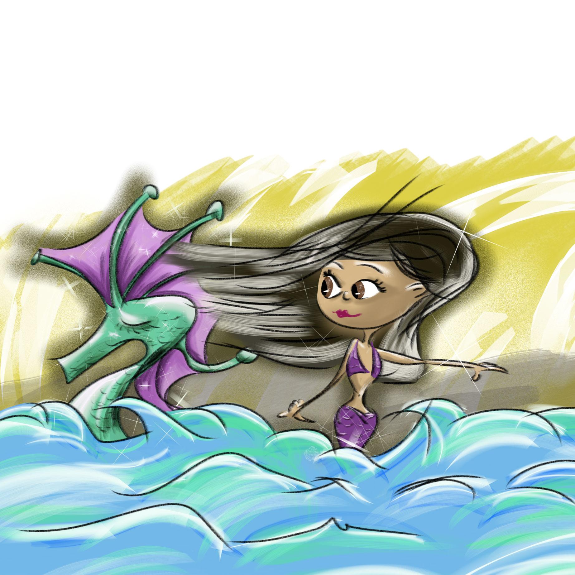 seahorse & mermaid