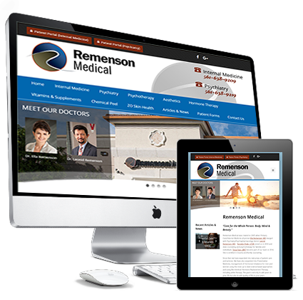 remenson medical website design delray beach and boca raton fl