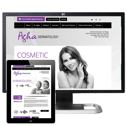 skin angel | dermatology website design