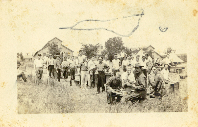Photograph: C.O.s in Mess Line 2