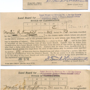 Local Board notices of classification (3)