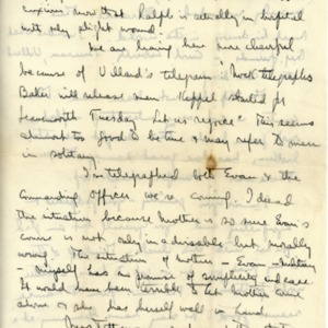 Letter Undated FriAM From Norman Thomas to Violet Thomas