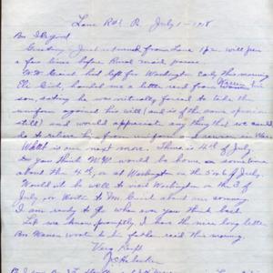 Letter July 1, 1918 to I.B. Good