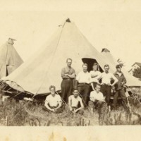 Photograph: C.O.s with Tents
